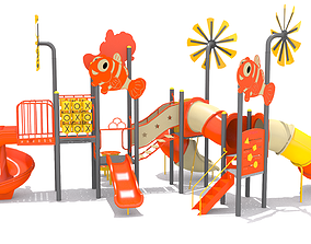 3D model Fish Playground