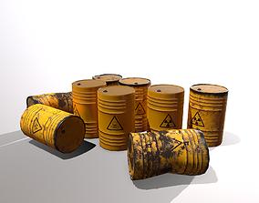 3D asset Toxic waste barrels