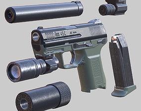 animated 3DRT - Modern firearms HD - HK-45
