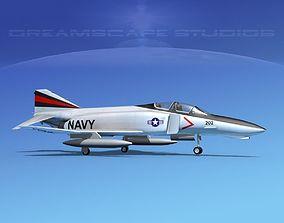 3D McDonnell Douglas F-4J Phantom II V04 USN