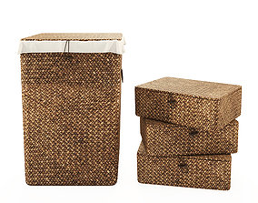 3D model Wicker Basket and Box from ZARA HOME