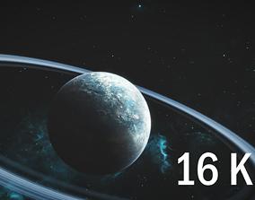 16K Photorealistic Snowy Planet 3D model sphere