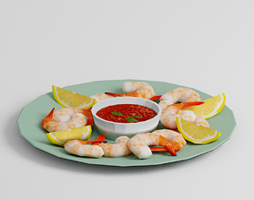 3D asset Shrimp Cocktail G32