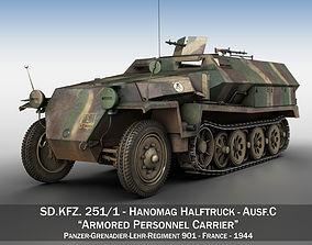 SDKFZ 251 - Ausf C - Half-track - PGLR901 3D model