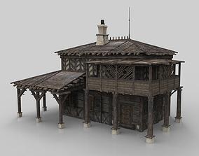 3D model Medieval house fantasy 08