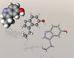 Serotonin molecule 3D