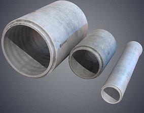 3D model Concrete industrial pipes
