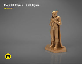 ELF ROGUE CHARACTER GAME FIGURES 3D print model