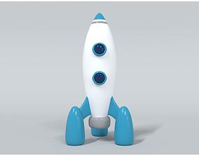 3D asset Space Rocket 2