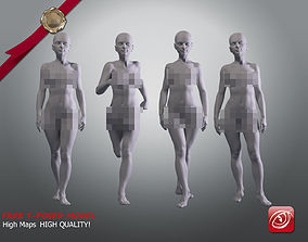Woman A Testing model - Marvelous Designer Posed 3D asset