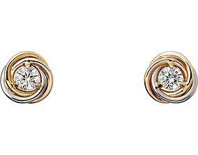 Cartier earrings 3D print model