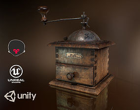 Coffee Mill PBR 3D asset animated