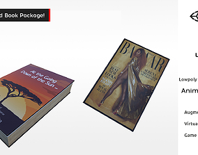 3D asset Book and Magazine Rigged and Animated Opening 2