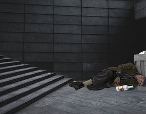 HOMELESS ALCOHOLIC pose 3D model