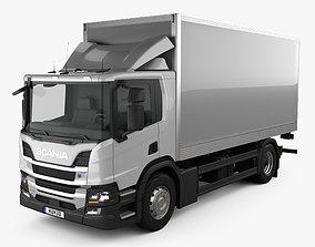 Scania P Box Truck 2017 3D