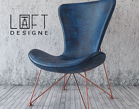 Armchair Loft Design 3770 model leather