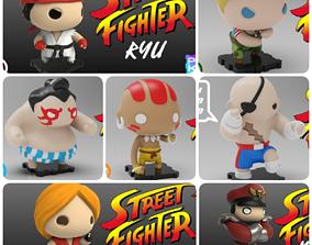Pack Street Fighter all funko 3D printable model 1