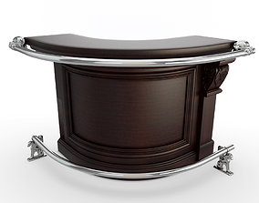 Rounder Wooden Counter 3D classic