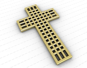 Cross 3D model low-poly orthodox