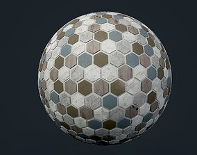shower Marble Tile Seamless PBR Texture 3D