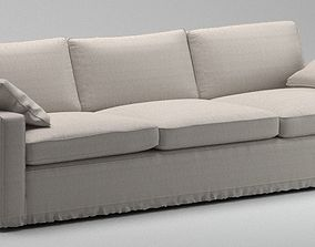3D model White sofa with pillows