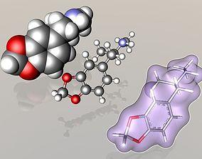 Ecstasy MDMA molecule 3D model drug