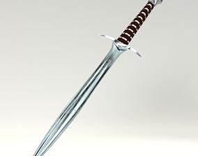 Sting Bilbo Sword 3D PBR model low-poly