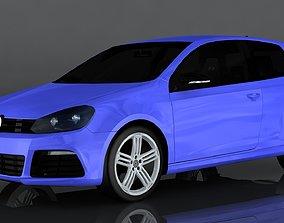 Volkswagen Golf R MkVI 3D asset