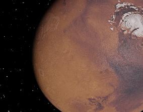 Planet Mars 3D asset low-poly