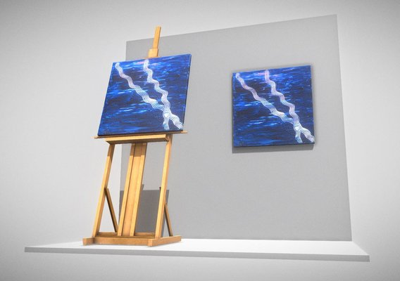 Blue Transformation No.3 - Oil Painting