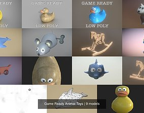 3D Game Ready Animal Toys bird