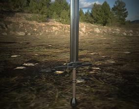 Steel Great Sword 3D asset