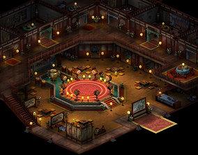 China-Tang Dynasty-Hotel-Interior 3D
