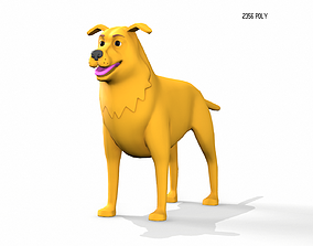 3D asset Dog Stylized - Low Poly Animation Game friendly