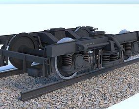 ER2 Passenger Wagon Bogey 3D model
