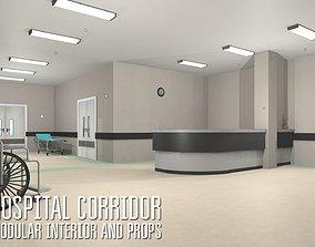 Hospital corridor - modular interior and props 3D model