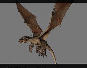 Desert Dragon 3D asset animated