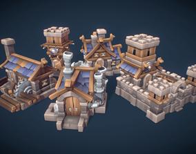 3D asset Human RTS Building Set - Proto Series