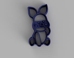 Piglet Cookie Cutter 3D printing