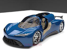 concept automotive Sport car 3D model