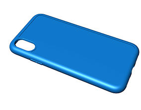 Iphone X blue case 3D print model