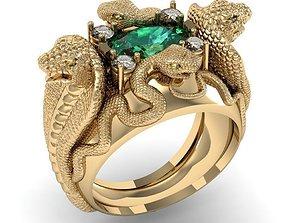 ring four snakes 3D printable model