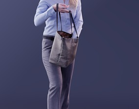 Kim 10173 - Standing Business Woman 3D model realtime