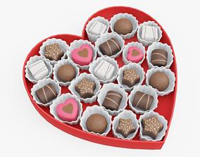 Chocolate Box 3D model PBR