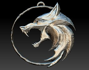 Witcher amulet - WOLF 3D printable model