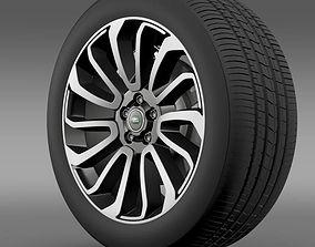 RangeRover V8 wheel 3D