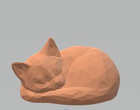 3D print model Cat sleeping low poly