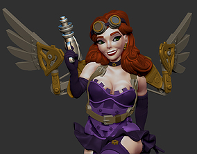 Steampunk Fairy Pinup 3D print model