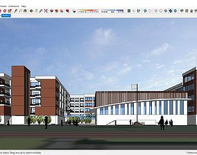 3D model Sketchup school L2