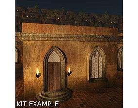 Six Piece Medieval Village Builders Kit 3D model